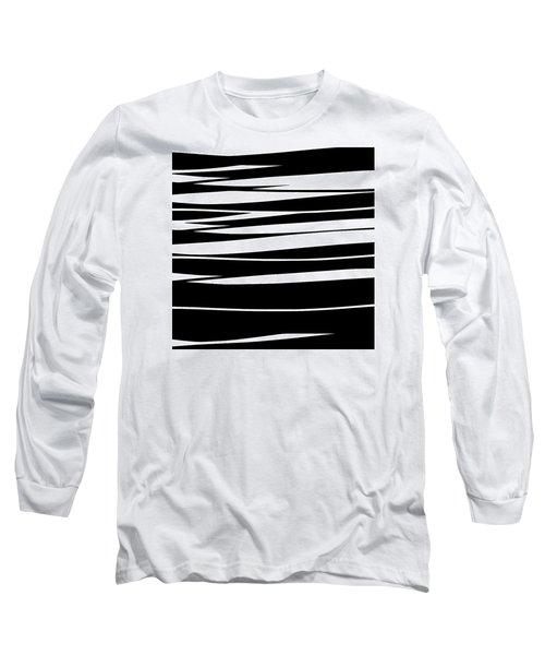 Organic No 9 Black And White Long Sleeve T-Shirt