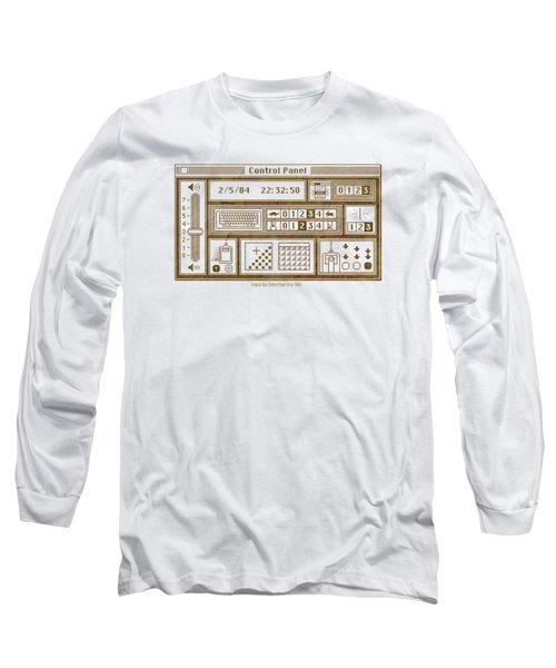 Original Mac Computer Control Panel Circa 1984 Long Sleeve T-Shirt