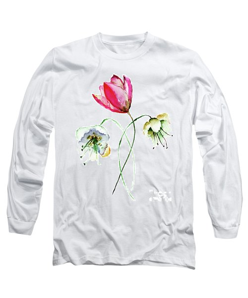 Original Summer Flowers Long Sleeve T-Shirt