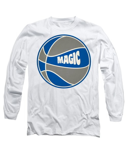 Orlando Magic Retro Shirt Long Sleeve T-Shirt by Joe Hamilton