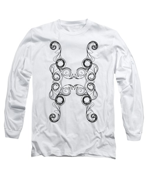 Ornate Curly Color Your Background Long Sleeve T-Shirt