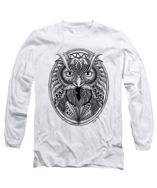 Ornate Owl Long Sleeve T-Shirt