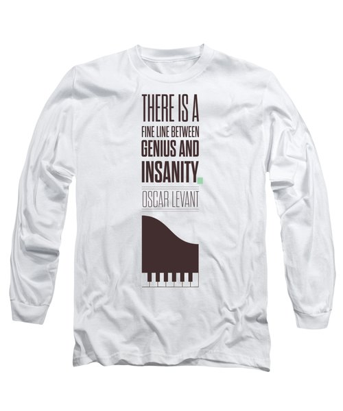 Oscar Levant Inspirational Typography Quotes Poster Long Sleeve T-Shirt by Lab No 4 - The Quotography Department