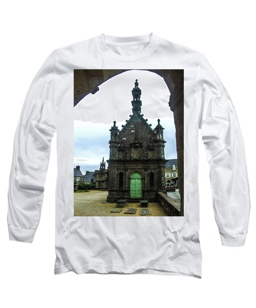 Ossuary Of St Thegonnec Long Sleeve T-Shirt by Helen Northcott