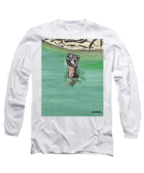 Otter In Amazon River Long Sleeve T-Shirt