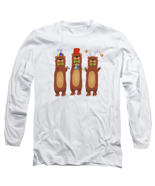 Otter Party And You Are Invited Long Sleeve T-Shirt by Little Bunny Sunshine