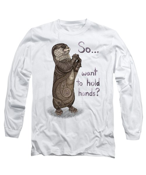 Otter Valentine Long Sleeve T-Shirt by ZH Field