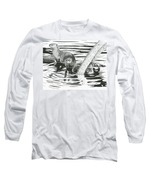 Otters Three Long Sleeve T-Shirt