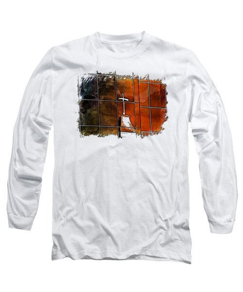 Our Father Earthy Rainbow 3 Dimensional Long Sleeve T-Shirt