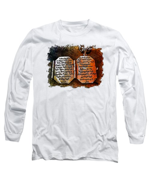 Our Father Who Art In Heaven Earthy Rainbow 3 Dimensional Long Sleeve T-Shirt