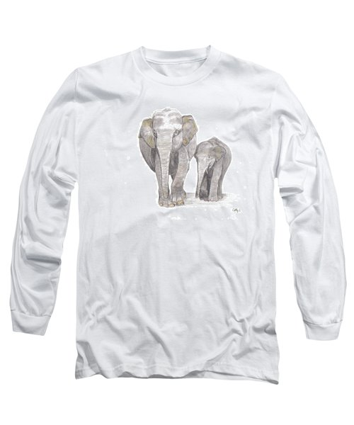 Out For  A Stroll Long Sleeve T-Shirt by Catherine Swerediuk