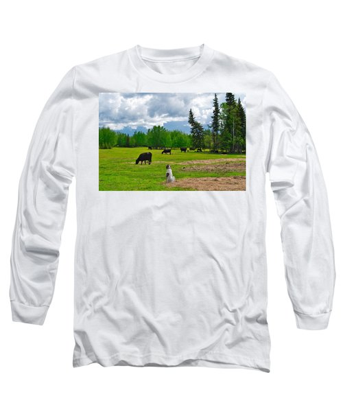 Out In The Pasture Long Sleeve T-Shirt