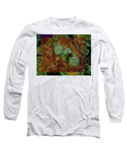 Long Sleeve T-Shirt featuring the mixed media Out Of Time 5  by Lynda Lehmann
