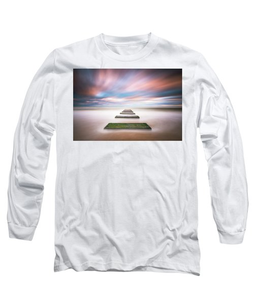 Outer Banks North Carolina Seascape Nags Head Nc Long Sleeve T-Shirt