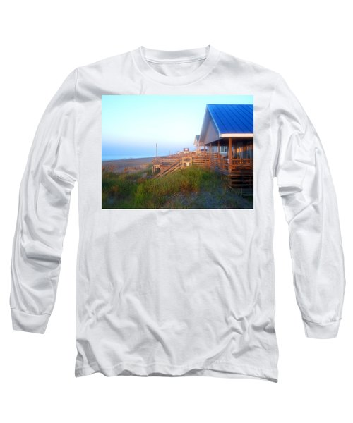 Long Sleeve T-Shirt featuring the photograph Outerbanks Sunrise At The Beach by Sandi OReilly