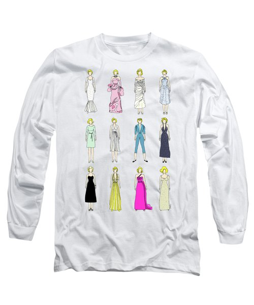 Outfits Of Marilyn Fashion Long Sleeve T-Shirt by Notsniw Art