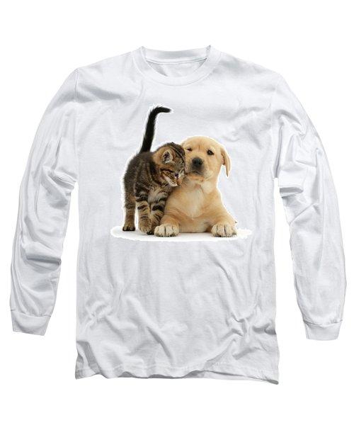 Over Friendly Kitten Long Sleeve T-Shirt