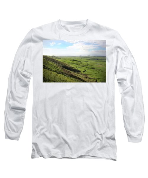 Over The Rim On Terceira Island, The Azores Long Sleeve T-Shirt