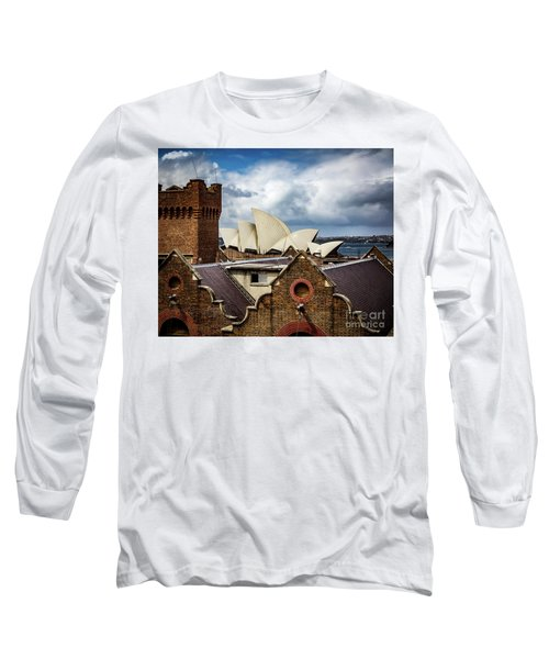 Long Sleeve T-Shirt featuring the photograph Over The Roof Tops by Perry Webster