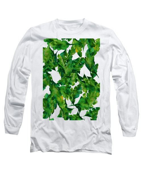 Overlapping Leaves Long Sleeve T-Shirt by Cortney Herron