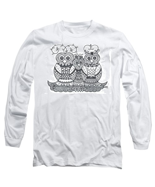 Owl Family Long Sleeve T-Shirt