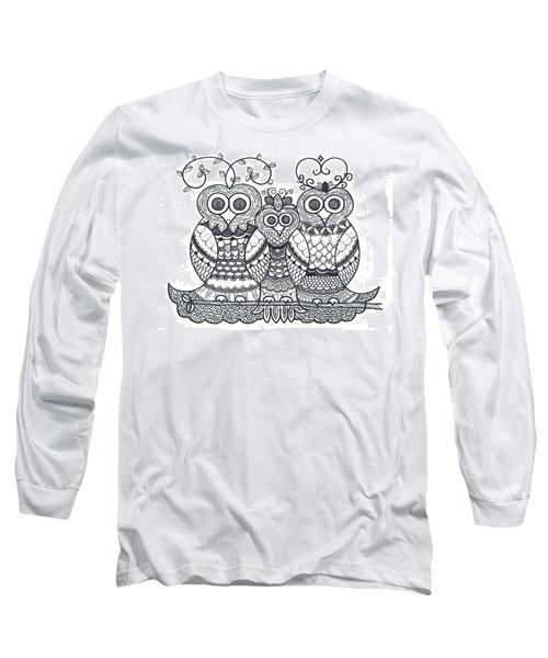 Owl Family Long Sleeve T-Shirt