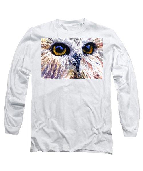 Owl Long Sleeve T-Shirt by John D Benson