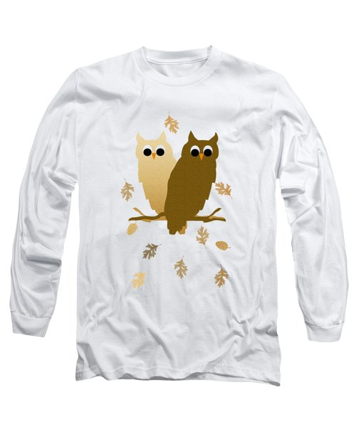 Owl Pattern Long Sleeve T-Shirt