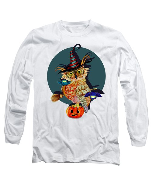 Owl Scary Long Sleeve T-Shirt by Isabel Salvador