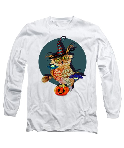 Owl Scary Long Sleeve T-Shirt