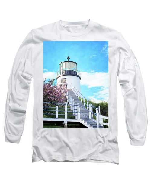 Owl's Head Light In Early June Long Sleeve T-Shirt