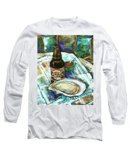 Oyster And Amber Long Sleeve T-Shirt
