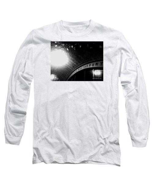 Oyster Bar At Grand Central Long Sleeve T-Shirt by James Aiken