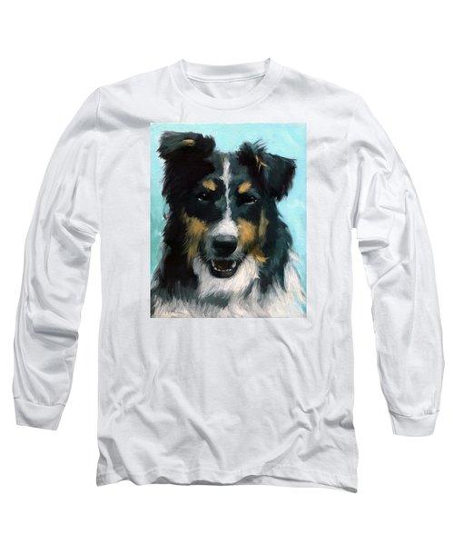 Ozzie Animal Dog Portrait Long Sleeve T-Shirt