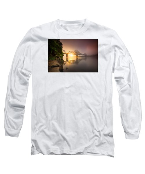 P And Le Ohio River Railroad Bridge Long Sleeve T-Shirt by Emmanuel Panagiotakis