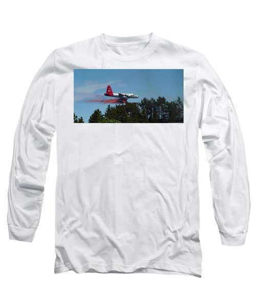 Long Sleeve T-Shirt featuring the photograph P2v Red Canyon Fire by Bill Gabbert