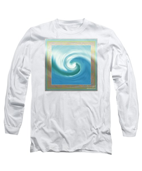 Pacific Swirl With Border Long Sleeve T-Shirt