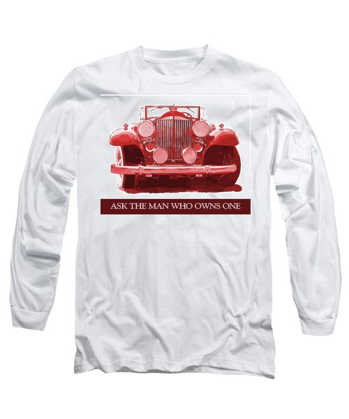 Packard Ask The Man Red Long Sleeve T-Shirt