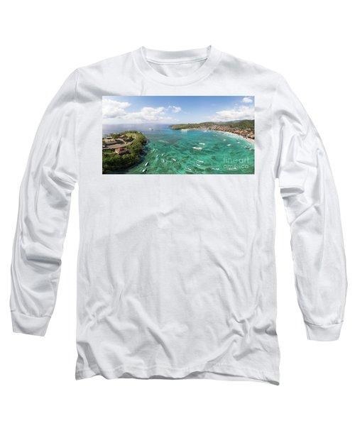 Padang Bai Panorama In Bali Long Sleeve T-Shirt