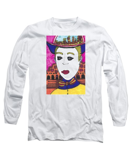 Long Sleeve T-Shirt featuring the painting Pagliacci  Italy by Don Koester