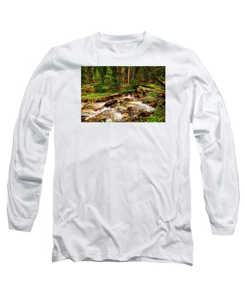 Long Sleeve T-Shirt featuring the photograph Pahsimeroi Cascades by Greg Norrell