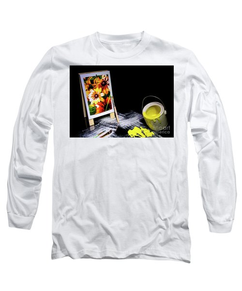 Painted Canvas Long Sleeve T-Shirt