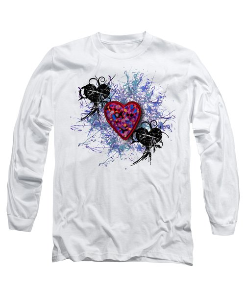 Painted Heart 3 Long Sleeve T-Shirt by Christine Perry