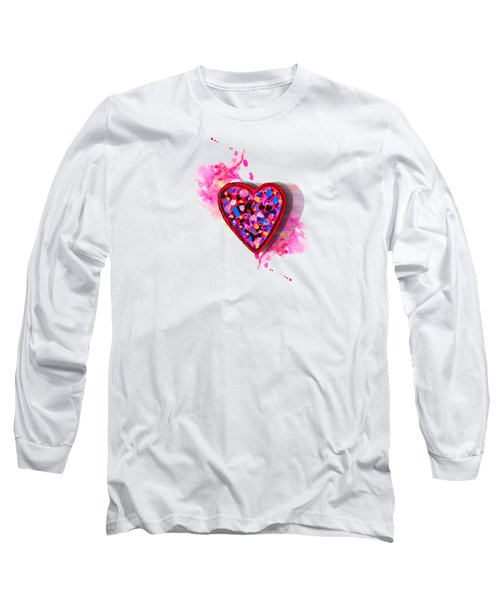 Painted Heart Long Sleeve T-Shirt by Christine Perry