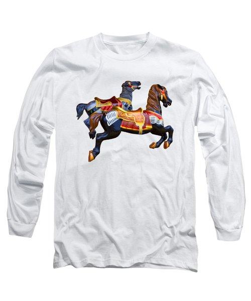 Painted Ponies Long Sleeve T-Shirt by John Haldane