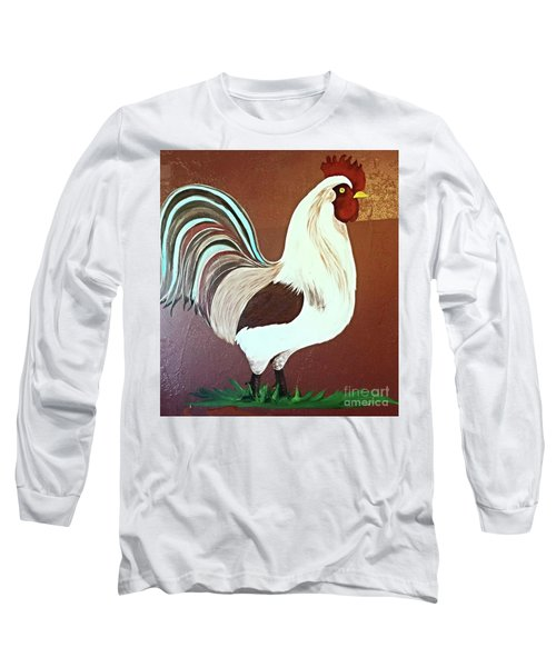 Painted Rooster Long Sleeve T-Shirt