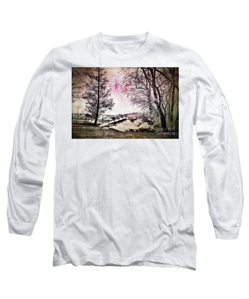 Long Sleeve T-Shirt featuring the photograph Painted Trees by Judy Wolinsky