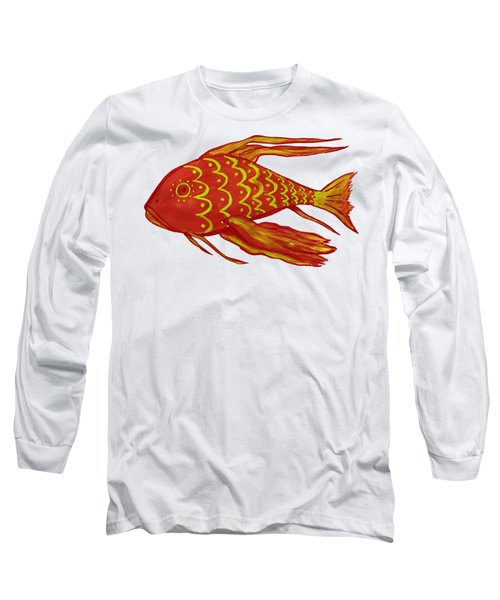 Painting Red Fish Long Sleeve T-Shirt
