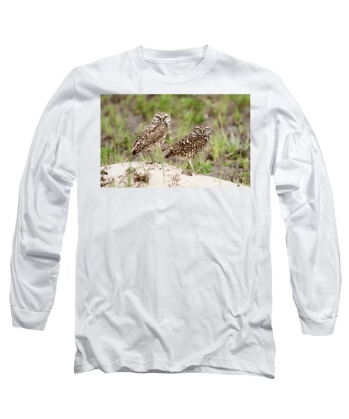 Pair Of Burrowing Owls Long Sleeve T-Shirt
