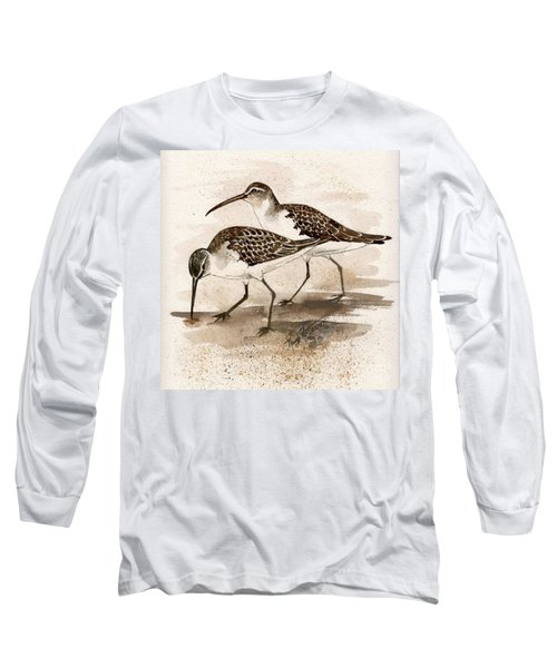 Pair Of Sandpipers Long Sleeve T-Shirt